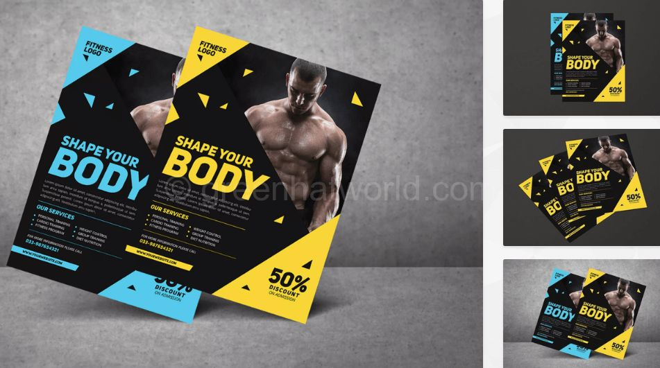 Download Modern Fitness Flyer Template Free