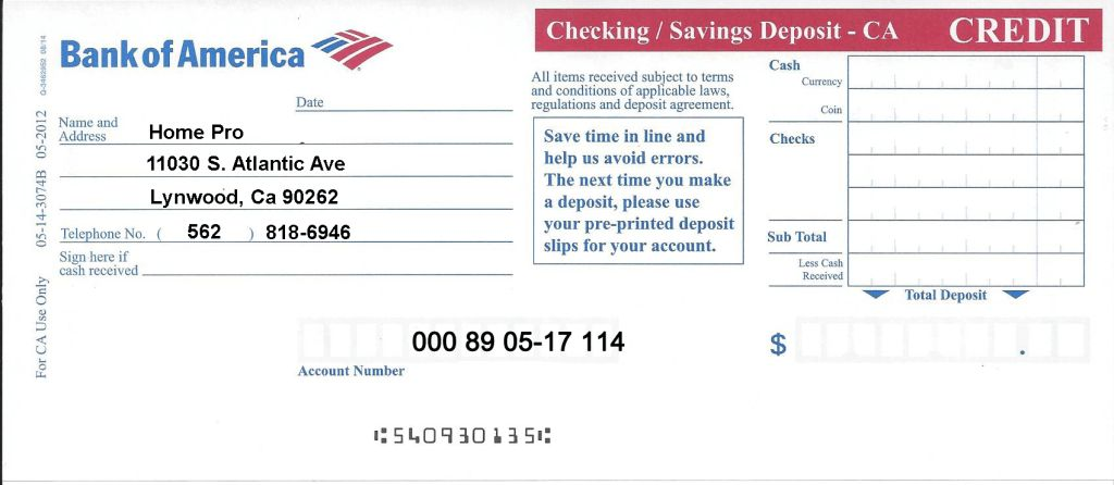 Payment Options - Home Pro E