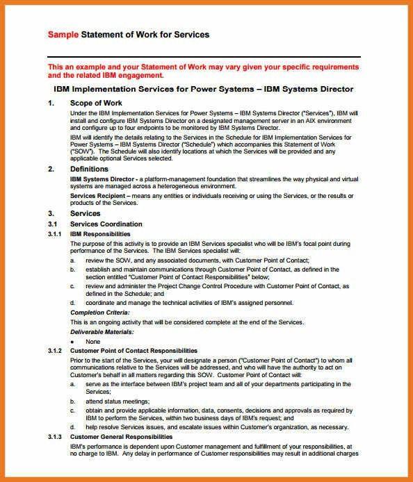 statement of work template | art resume skills