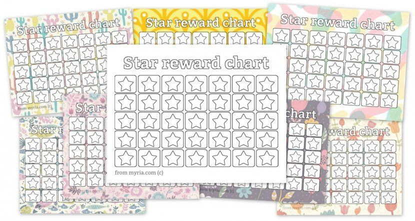 Printable reward charts: Fill in the stars - Myria