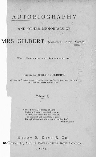 Autobiography of Mrs Gilbert