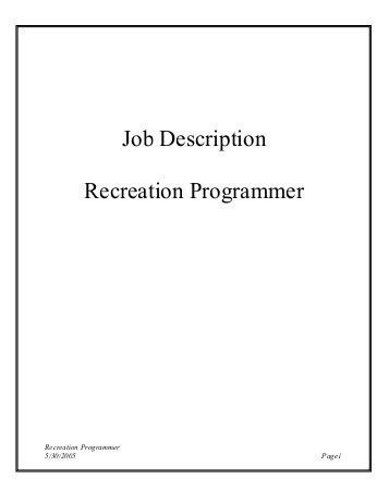 Programmer Job Description. Ra-Job-Description Job Description Of ...
