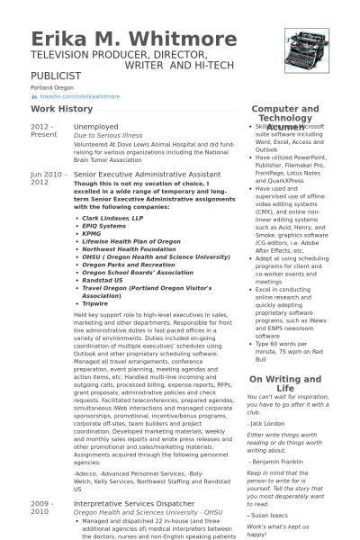 Senior Executive Resume samples - VisualCV resume samples database