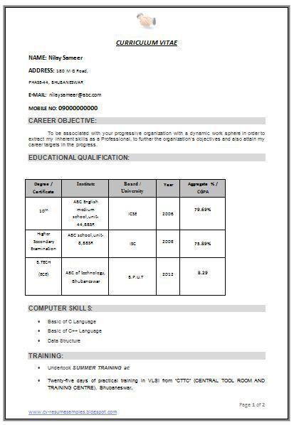 doc 496706 resume format download download resume format write ...