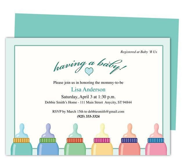 8 best Baby Shower Invitation Templates images on Pinterest | Baby ...