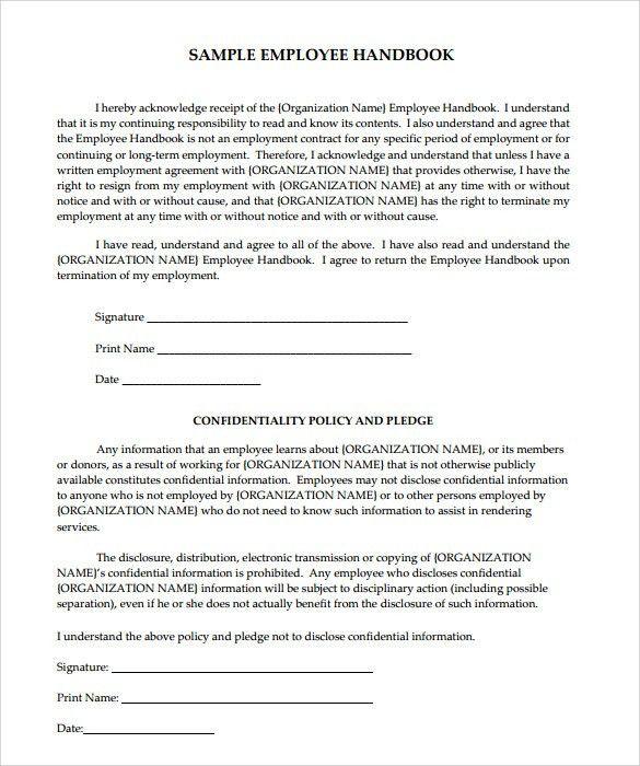 Employee Handbook Example  BesikEightyCo