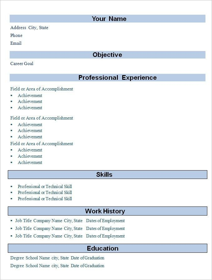 sample of simple resumes template basic format for resume simple ...