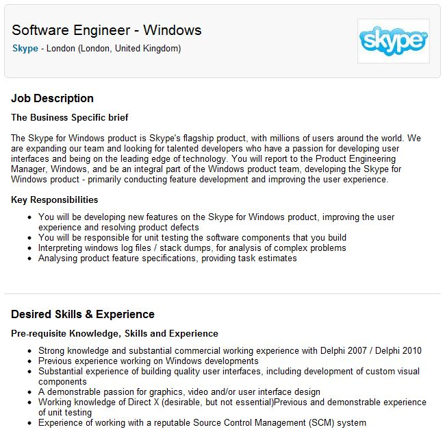 Skype employs Delphi programmers — IT daily blog, news, magazine ...