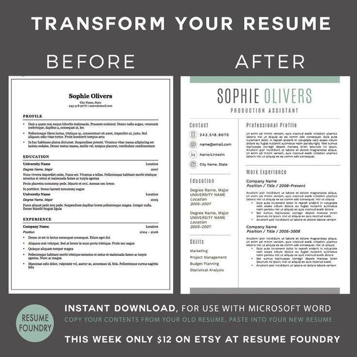 191 best Modern Resume Templates images on Pinterest | Cv template ...