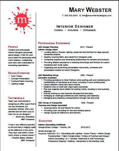 Download Interior Design Resume | haadyaooverbayresort.com