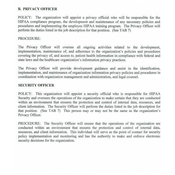 Hipaa Policy Templates. policies and procedures template cyberuse ...