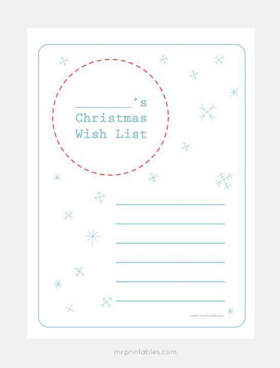 Christmas Wishlist Template, free santa\\u0027s christmas wish ...