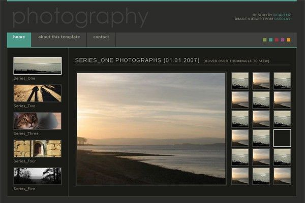 Free Website Templates For Photographers | Template Design
