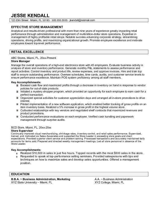 Liquor Store Manager Resume | The Best Letter Sample