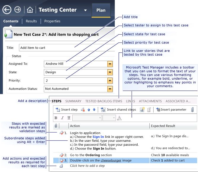 Plan application tests from a Microsoft Excel or Microsoft Word ...