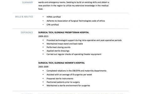 pharmacy technician resume sample no experience jennywasherecom - Surgical Tech Resume Samples