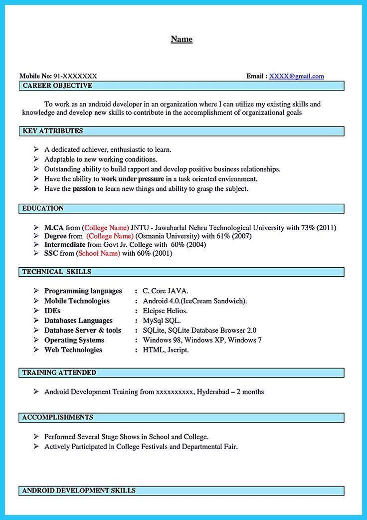 Download Android Developer Resume | haadyaooverbayresort.com
