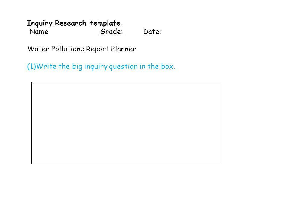 Inquiry Research template. - ppt video online download