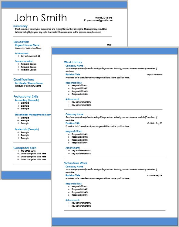 Professional Resume Services - Selection Criteria Services   Australia