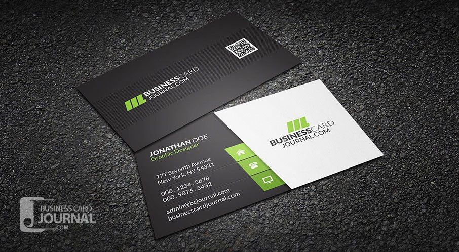 Free Clean & Stylish Corporate Business Card Template » Business ...