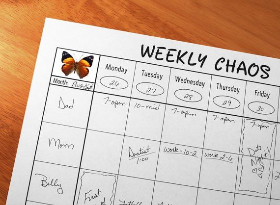 Family Weekly Calendar Family Calendar Important Dates