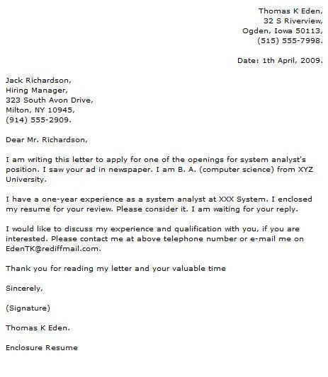 IT Analyst Cover Letter Examples - Cover Letter Now