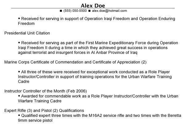 Veteran Resume 8 6 Sample Military-to-Civilian Resumes - uxhandy.com