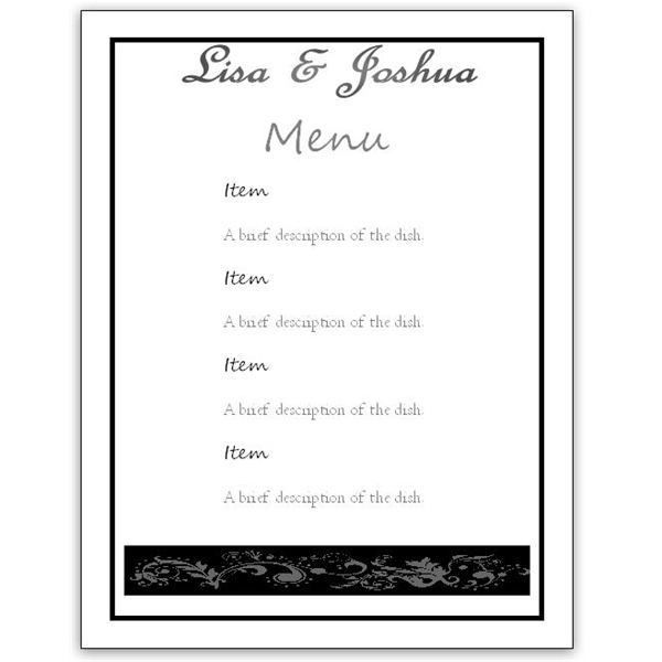 Dinner party menu templates free download dinner menu template 33 menu template word pronofoot35fo Image collections