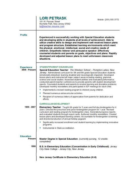Education Resume Templates. Basic-Resume-Templates-Basic-Resume ...