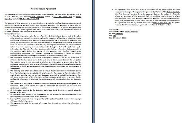Agreement Templates - Microsoft Word Templates