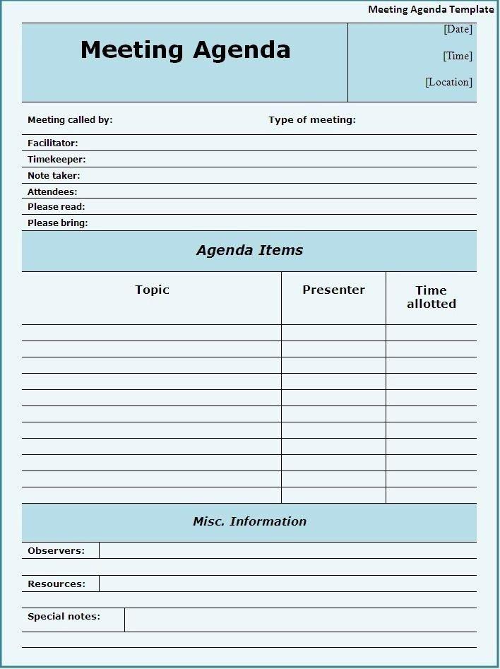 Agenda Template Word | aplg-planetariums.org