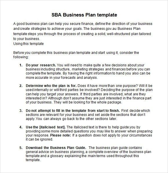 Sba Business Plan Template - vnzgames
