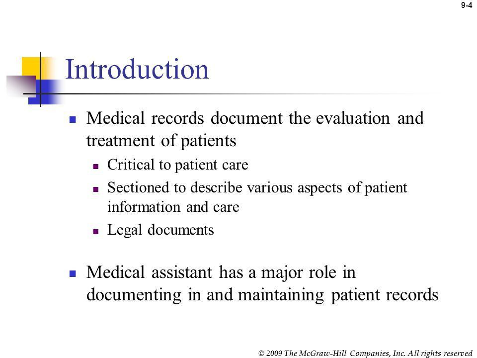 Maintaining Patient Records - ppt video online download