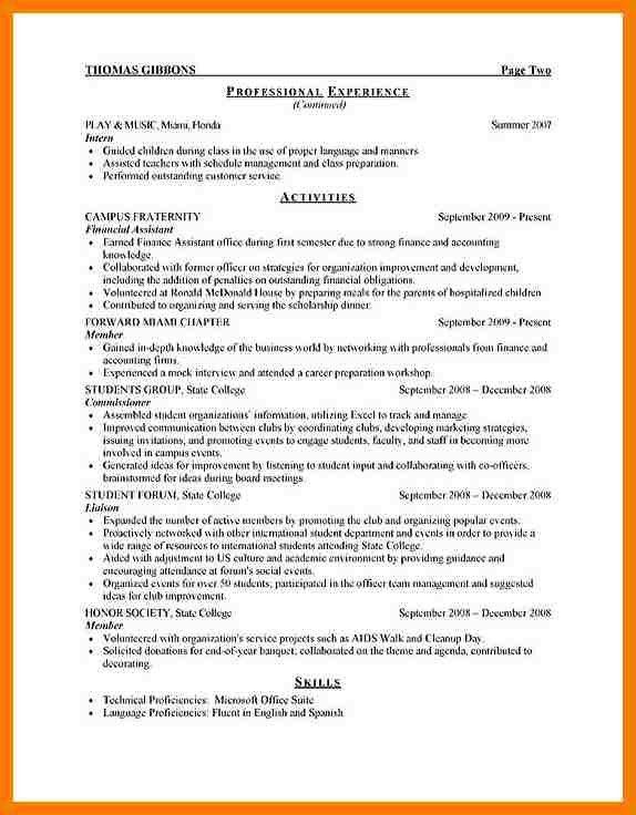 5+ cv pattern for internship | park-attendant