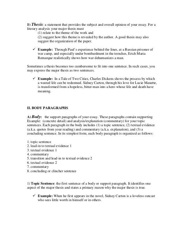 a guide to writing the literary analysis essay. Resume Example. Resume CV Cover Letter