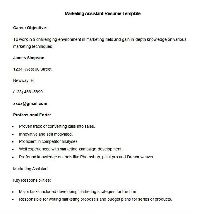 Marketing Resume Template – 37+ Free Samples, Examples, Format ...