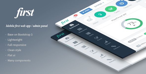 first - Mobile First Web App Theme by Flatfull | ThemeForest