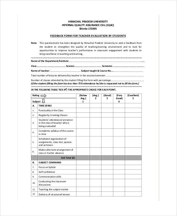 Lecture Evaluation Form. Admin Home Admin Login Student Feedback .