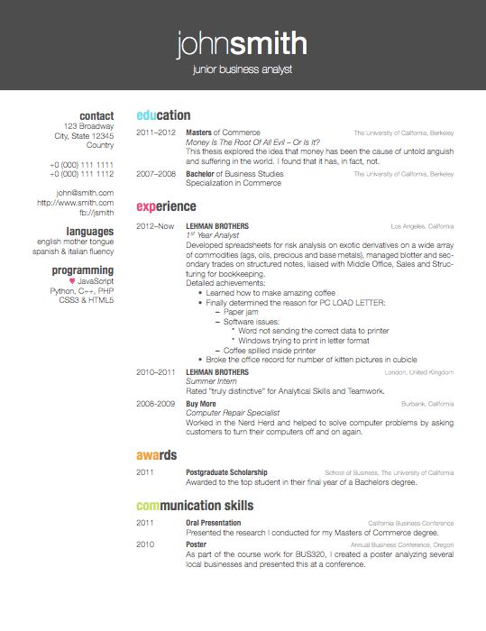 Latex Cv Template Academic Phd | Create professional resumes ...