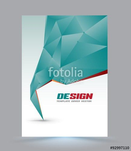 Cover page layout template. Polygon abstract speech style. Vector ...