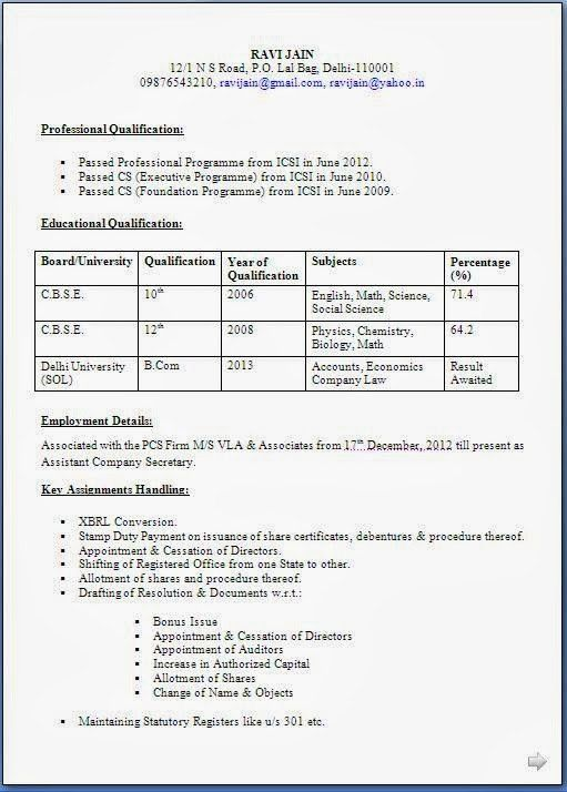 Valuable Resume Format 3 Best Resume Formats - Resume Example