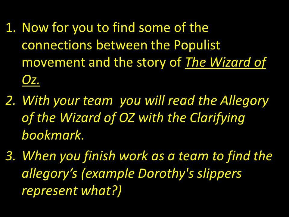 Agenda: Wizard of OZ Allegory - ppt download
