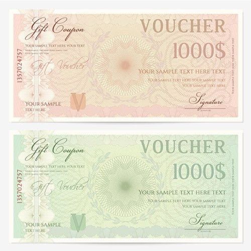 Ornate gift voucher vintage template vector 02 - Vector Card free ...