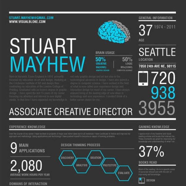 20 Beautiful Infographic Resumes That Will Inspire You | Visual ...