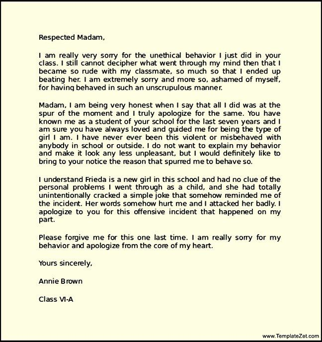 Apology Letter For Being Late. Apology Letter Not Attending ...