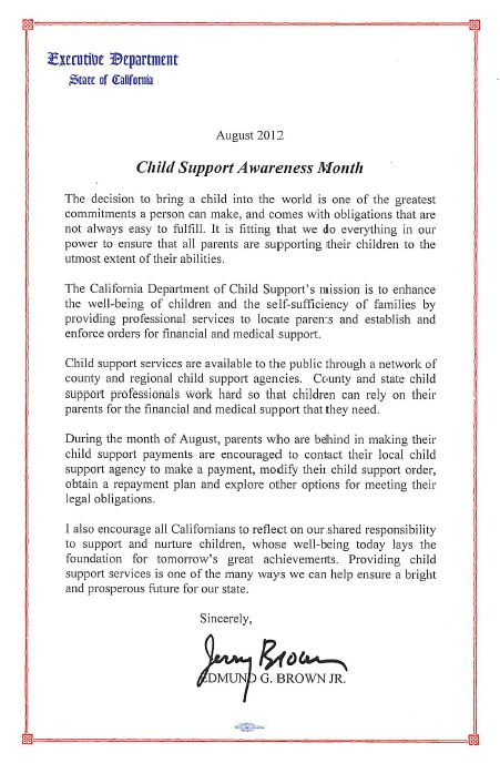 Child Support Awareness Month 2012