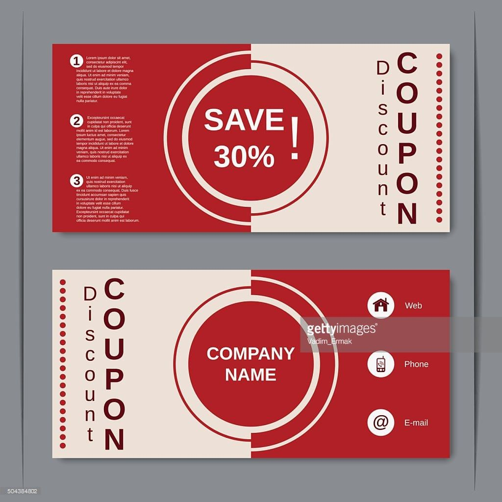 Discount Coupon Design Template Vector Art | Getty Images