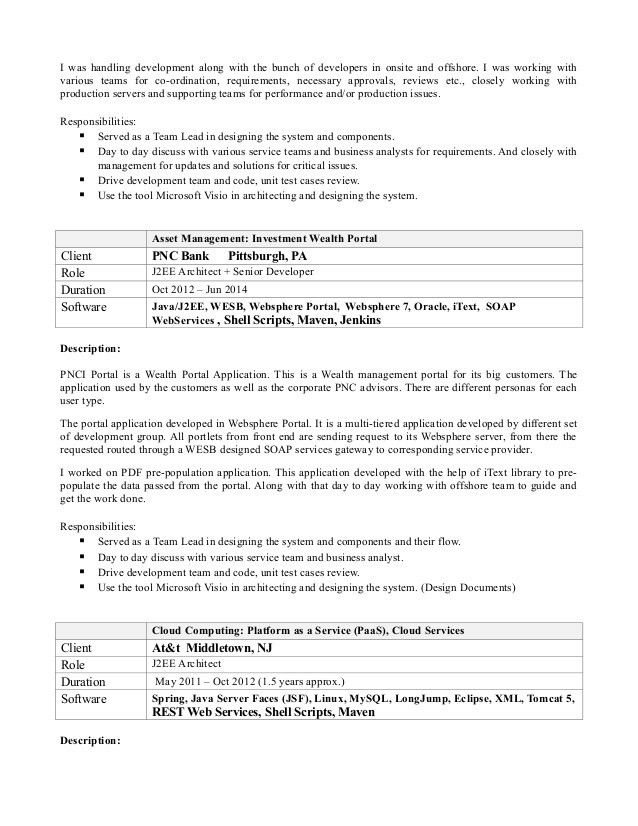 java web sphere developer resume java developer resume sample