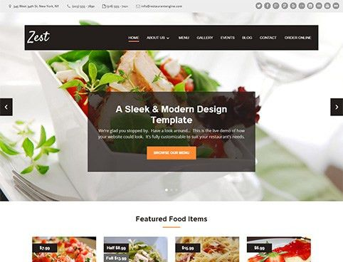 Restaurant Website Design Templates