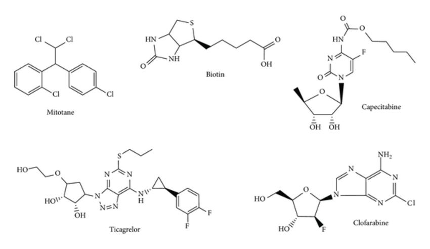 Example of molecules conforming training and test set having...